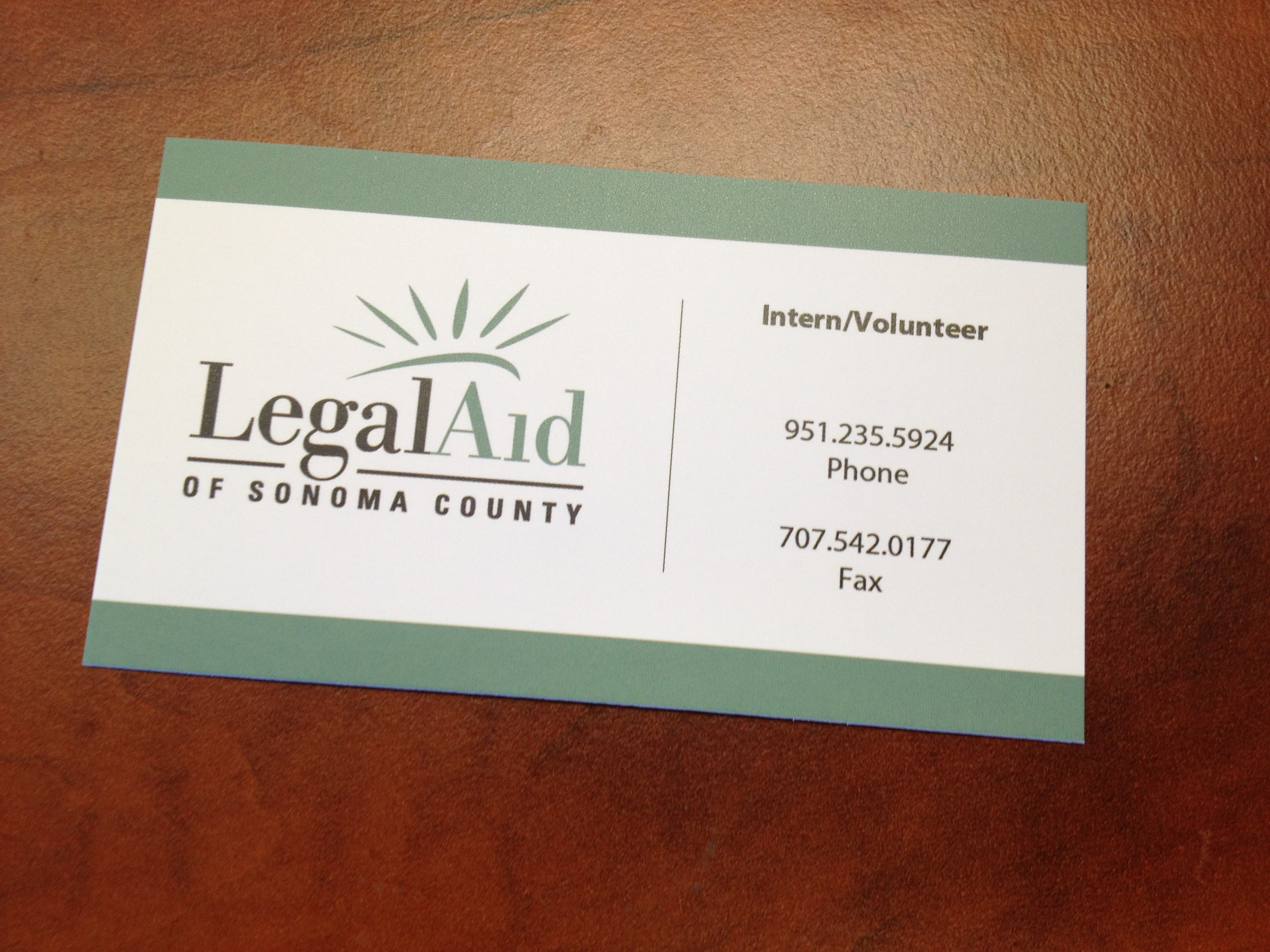 Legal Aid Business Cards