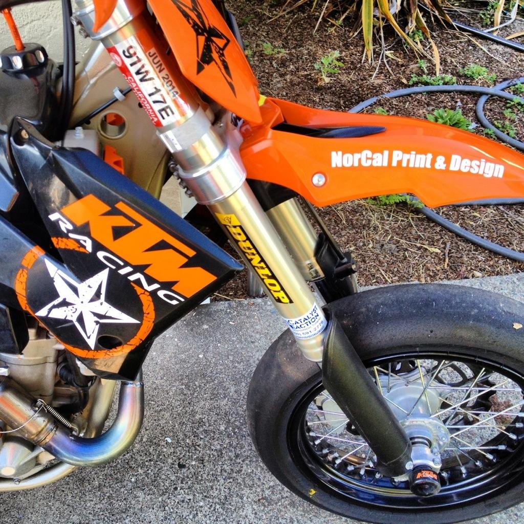 NorCal Print & LáCron Racing KTM Supermoto