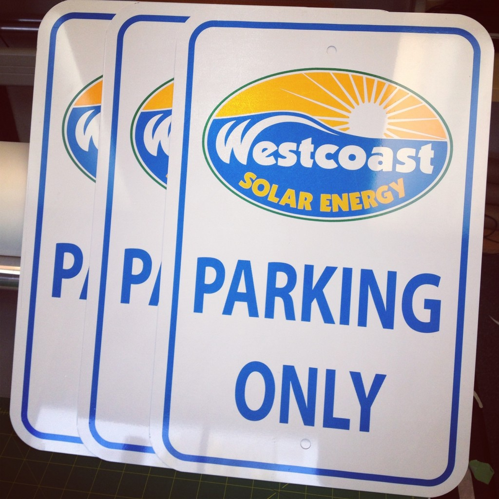 Westcoast Solar Energy Aluminum Signs