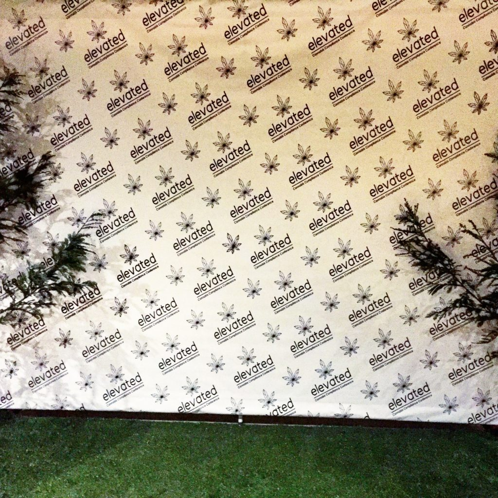 Elevated Step and Repeat Banner Backdrop