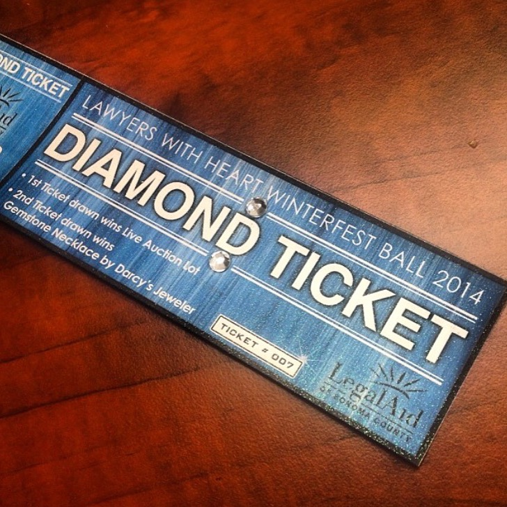Diamond Studded Raffle Tickets