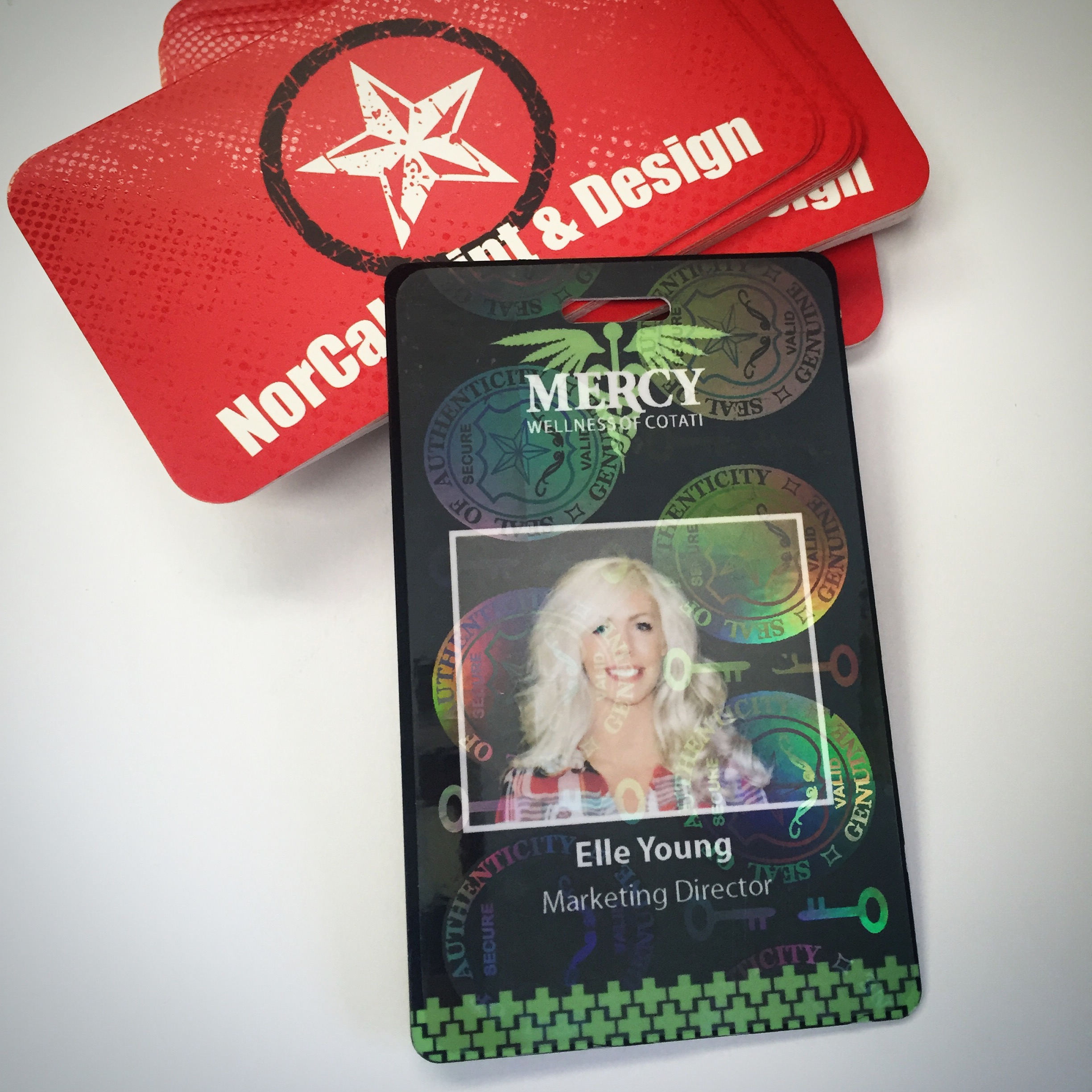 Custom Security Badges for Mercy Wellness