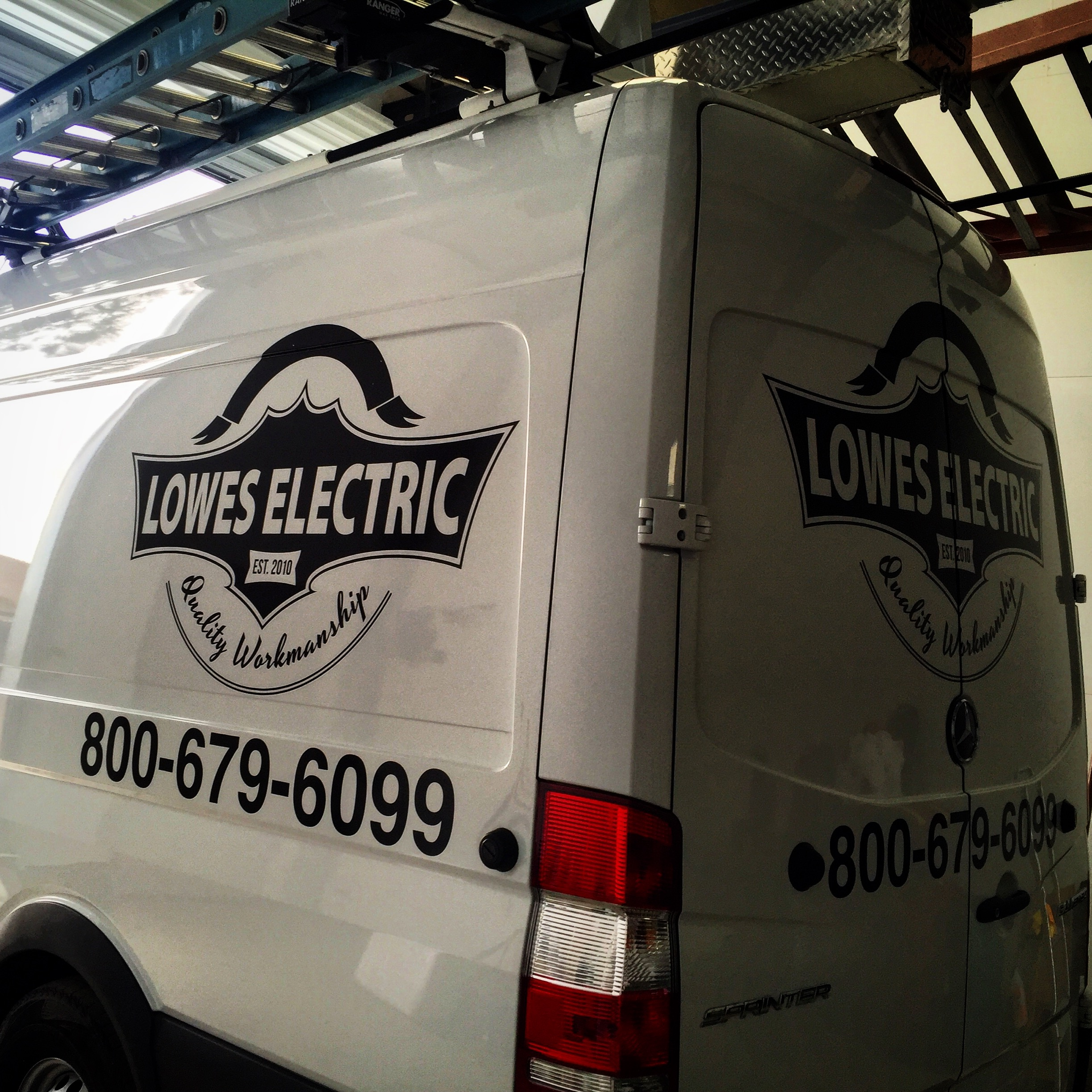 Lowes Electric Mercedes Sprinter Decals
