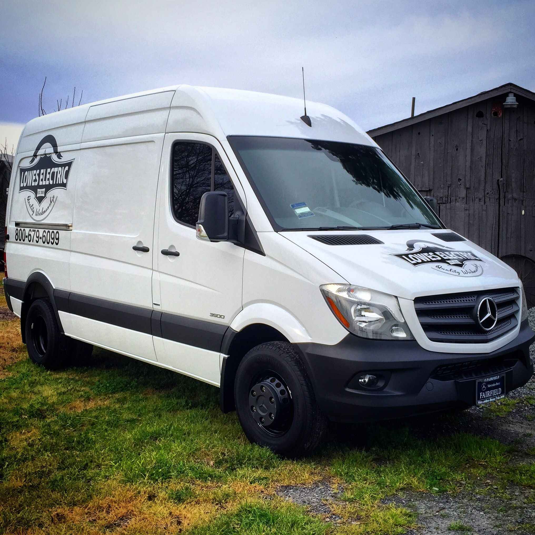 Mercedes Sprinter Custom Decals for Lowes Electric