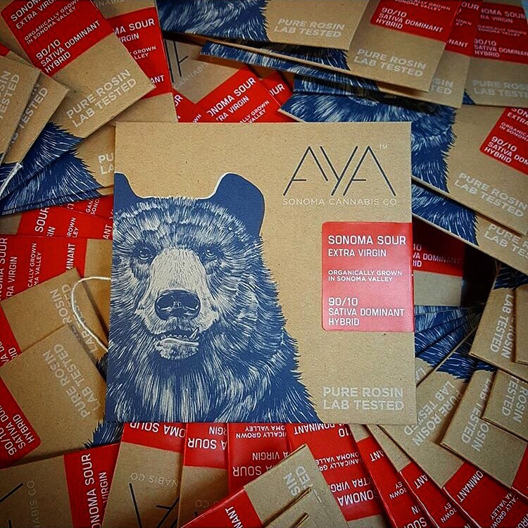 Aya by Sonoma Cannabis Company: Custom Craft Rosin Envelopes