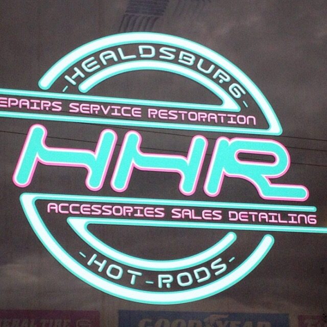 Healdsburg Hot Rods Window Vinyl